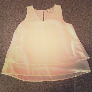 Monteau silky tank top blouse sz s